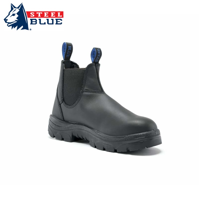Steel Blue Safety Boot Hobart Pull-On Black Footwear