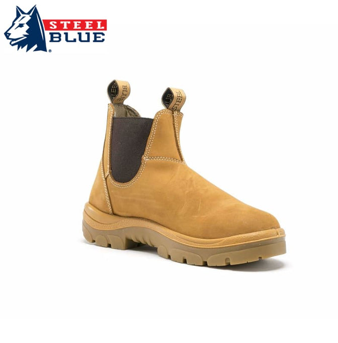 Steel Blue Safety Boot Hobart Pull-On Wheat Footwear
