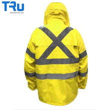 Load image into Gallery viewer, Tru Workwear - Jacket / Pant Rain Set In Bag Tape Class D/n Yellow