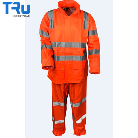 Tru Workwear - Jacket / Pant Rain Set In Bag Tape Rail Spec