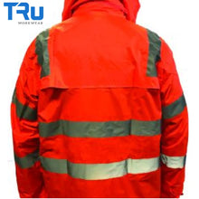 Load image into Gallery viewer, Tru Workwear - Jacket / Pant Rain Set In Bag Tape Rail Spec
