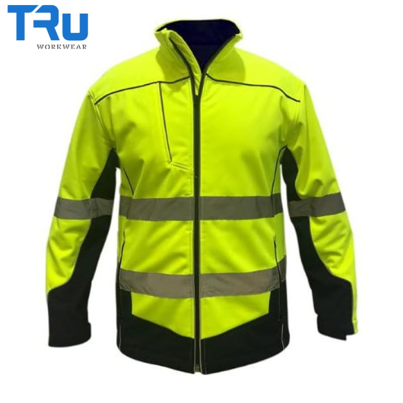 Tru Workwear - Jacket Soft Shell Poly/spandex Tape & Piping Y/n