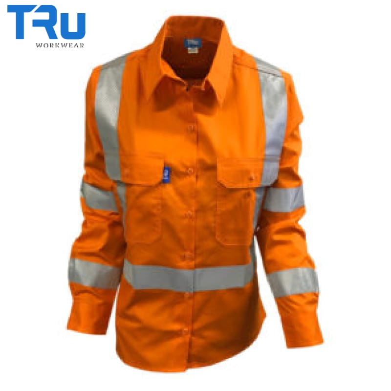 Tru Workwear - Ladies Shirt Cotton Drill Tape Nsw Rail