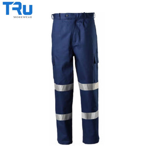 Tru Workwear - Trousers Bio-Motion Heavyweight Cargo 3M Tape Navy