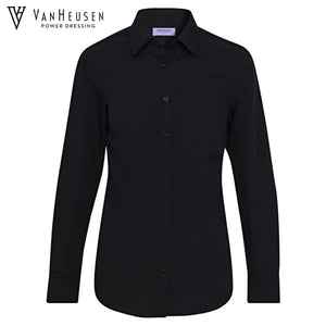 Van Heusen Ladies Classic Fit Shirt Black Workwear