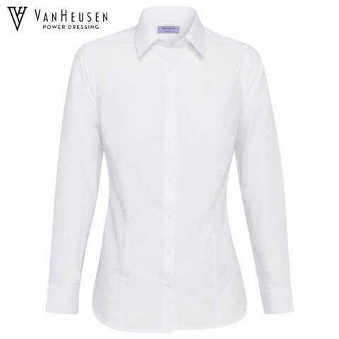 Van Heusen Ladies Classic Fit Shirt White Workwear