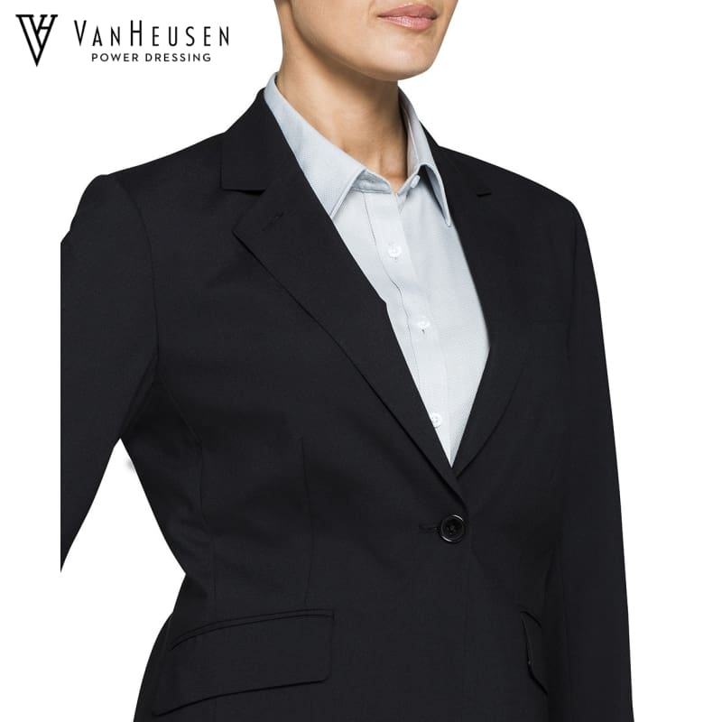Van Heusen Ladies Suit Jacket Stretch Wool Blend Black