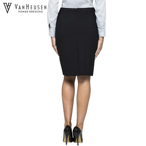 Van Heusen Ladies Suit Skirt Stretch Wool Blend Black