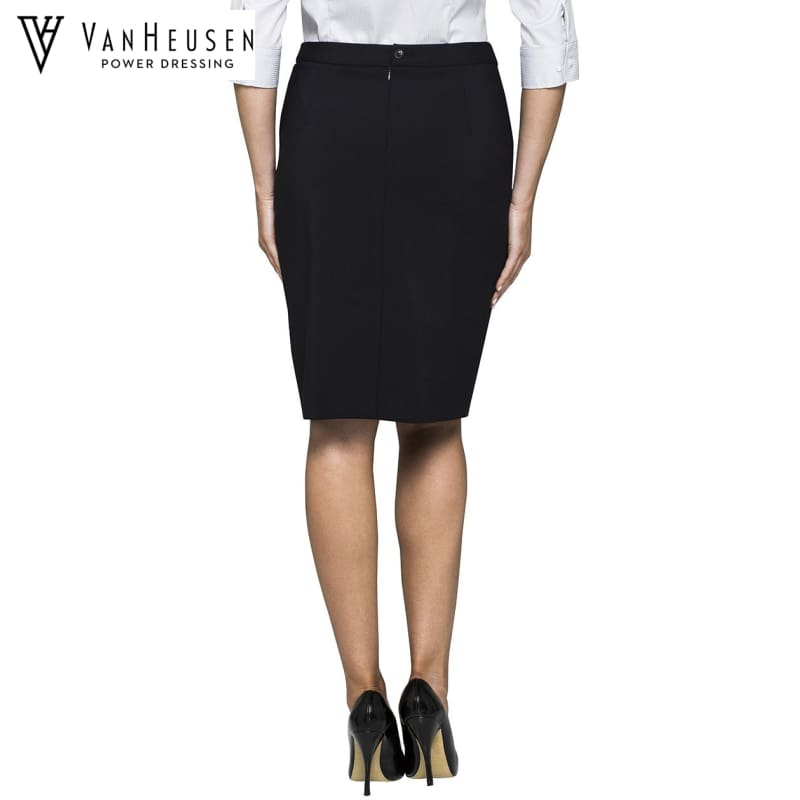 Van Heusen Ladies Suit Skirt Stretch Wool Blend Navy