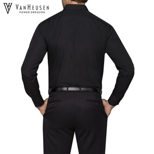 Van Heusen Mens Classic Relaxed Fit Shirt Black Workwear