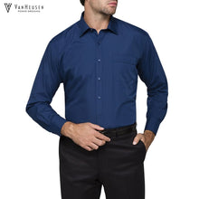 Load image into Gallery viewer, Van Heusen Mens Classic Relaxed Fit Shirt Navy Workwear