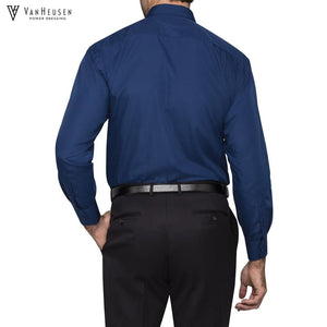 Van Heusen Mens Classic Relaxed Fit Shirt Navy Workwear