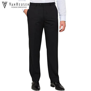 Van Heusen Mens Suit Trouser Stretch Wool Blend Black