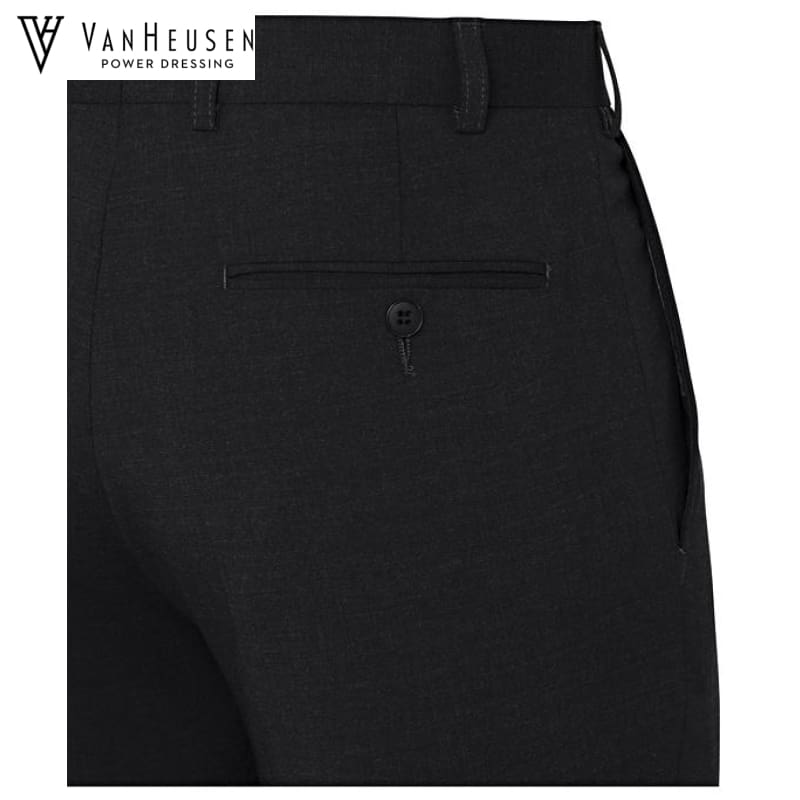 Van Heusen Mens Suit Trouser Stretch Wool Blend Charcoal