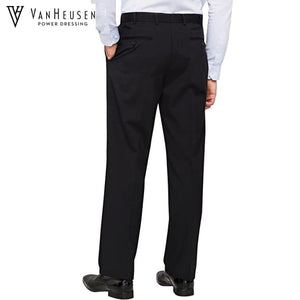 Van Heusen Mens Suit Trouser Stretch Wool Blend Navy