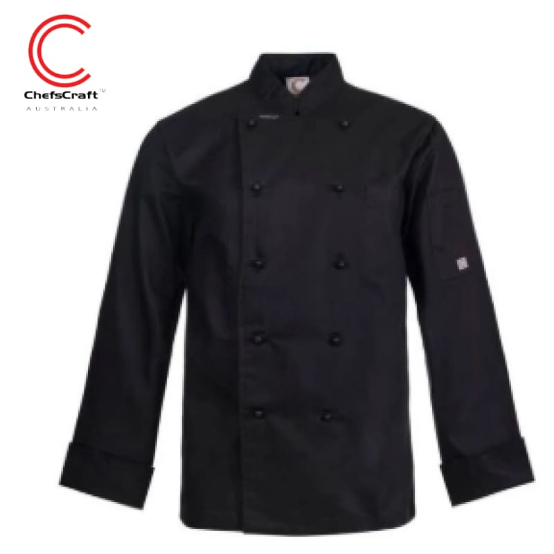 Workcraft Chefs Jacket Exective Black Workwear