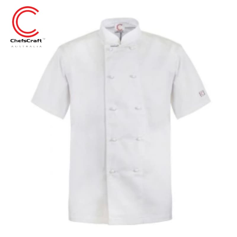 Workcraft Chefs Jacket S/short White Workwear