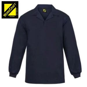 Workcraft Jac Shirt Food Industry Full Colour Navy Workwear