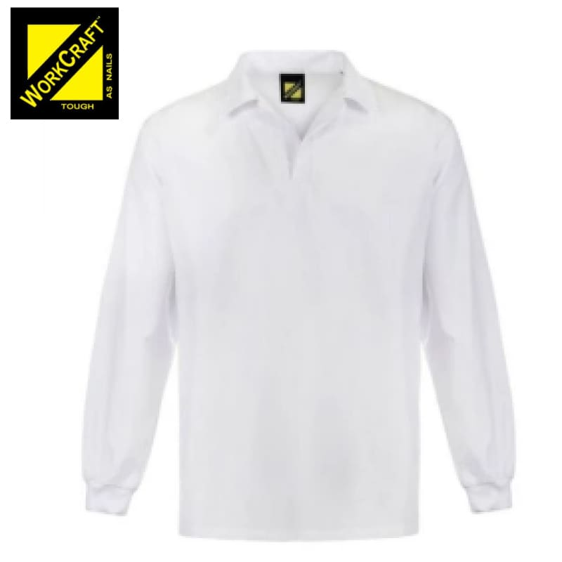 Workcraft Jac Shirt Food Industry L/sleeve White Workwear