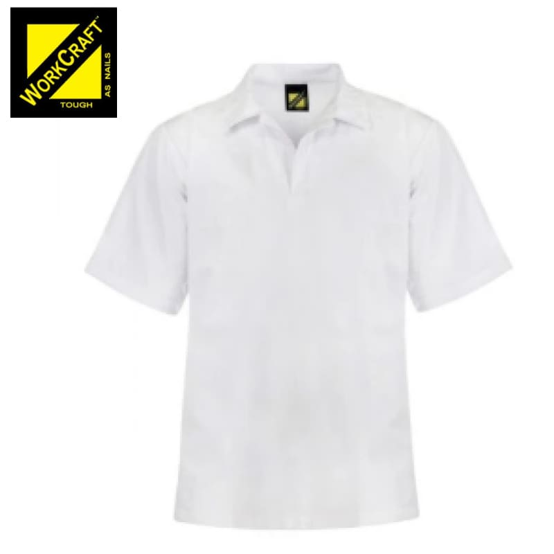 Workcraft Jac Shirt Food Industry S/sleeve White Workwear