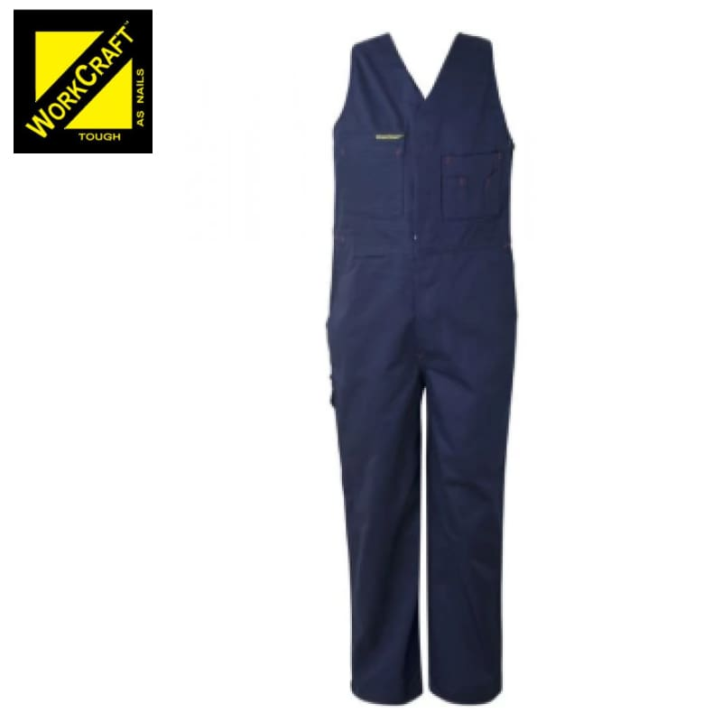 Workcraft Kids Roughall Elastic Straps Cotton Drill Navy Workwear