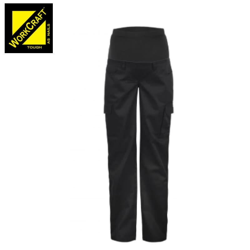 Workcraft Maternity Cotton Drill Trouser Black Workwear