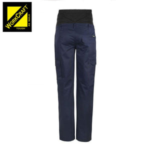 Workcraft Maternity Cotton Drill Trouser Navy Workwear