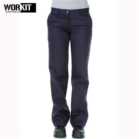 Workit - Ladies Cotton Drill Work Pants Navy Workwear