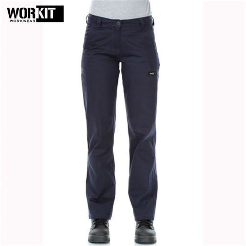 Workit - Ladies Pant Lightweight Cotton Drill Cargo Multi Pocket Navy Workwear