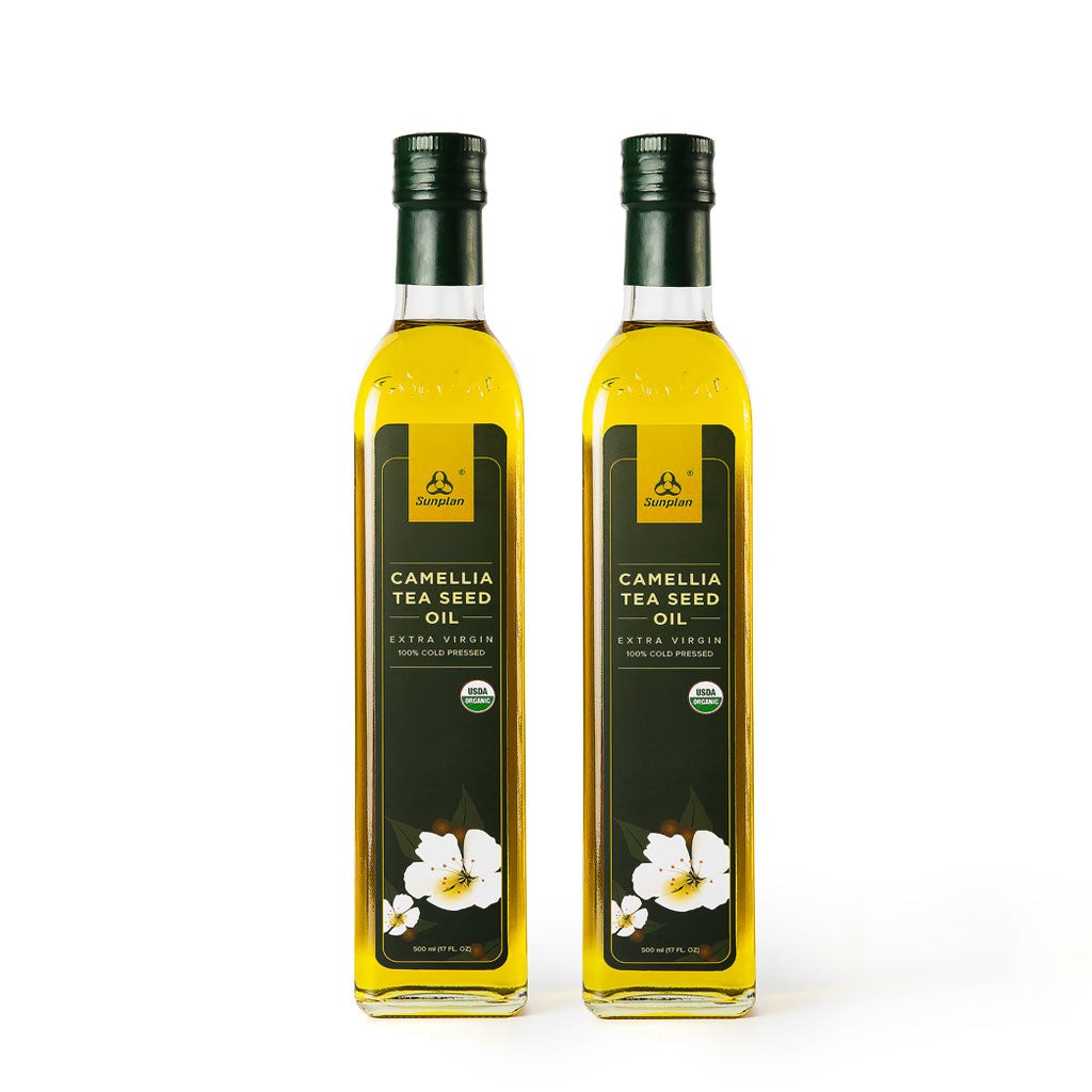 2 Bottles of SunPlan Organic Camellia Oil 500ml