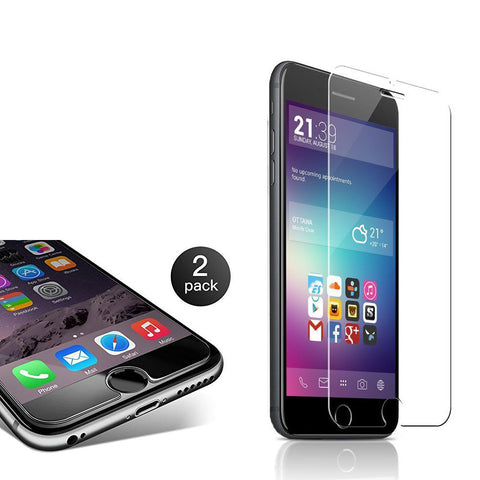 2-Pack 0.3mm 9H Hardness Tempered Glass for iPhone
