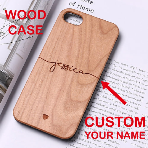 Custom Wood Heartbeat Case for iPhone XS