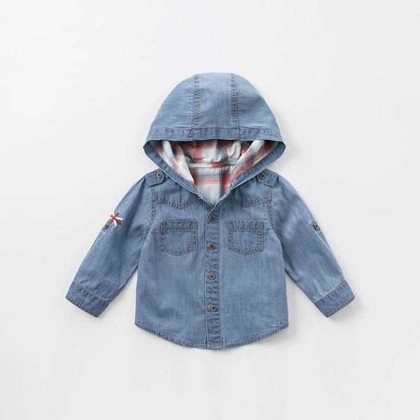 Boone Hooded Denim Jacket - Okiedokee Children's Boutique Kids Fashion Baby Clothes Cool Children's Clothing