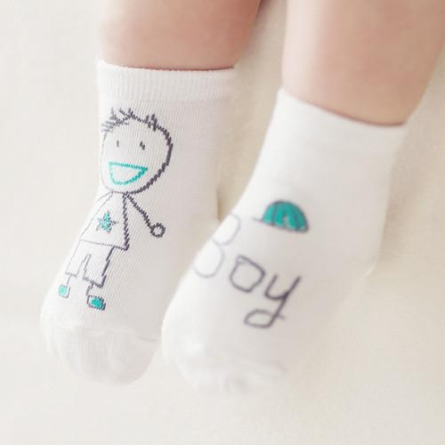 Baby Boy Hand Drawn Socks - Okiedokee Children's Boutique Kids Fashion Baby Clothes Cool Children's Clothing