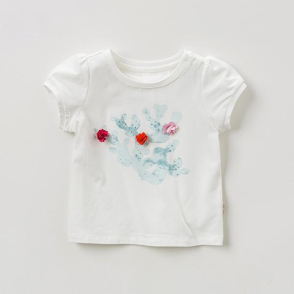 Cactus Knit Tee - Okiedokee Children's Boutique Kids Fashion Baby Clothes Cool Children's Clothing
