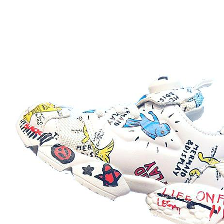 Crayon Graffiti Toddler Sneakers - Okiedokee Children's Boutique Kids Fashion Baby Clothes Cool Children's Clothing