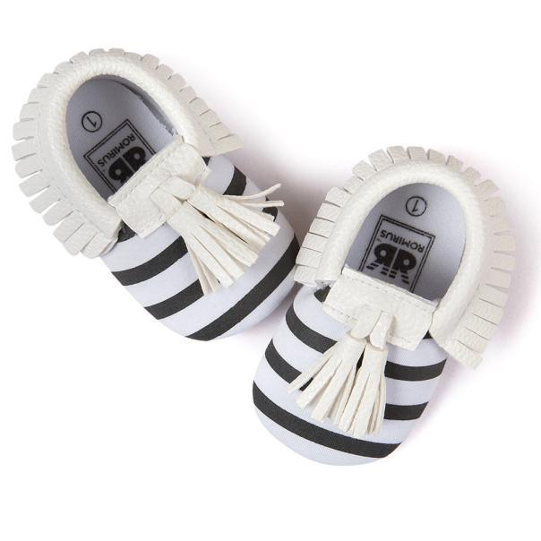 Charlene Tassel Baby Moccasins - Okiedokee Children's Boutique Kids Fashion Baby Clothes Cool Children's Clothing