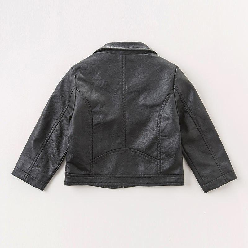Azalea Leather Jacket - Okiedokee Children's Boutique Kids Fashion Baby Clothes Cool Children's Clothing
