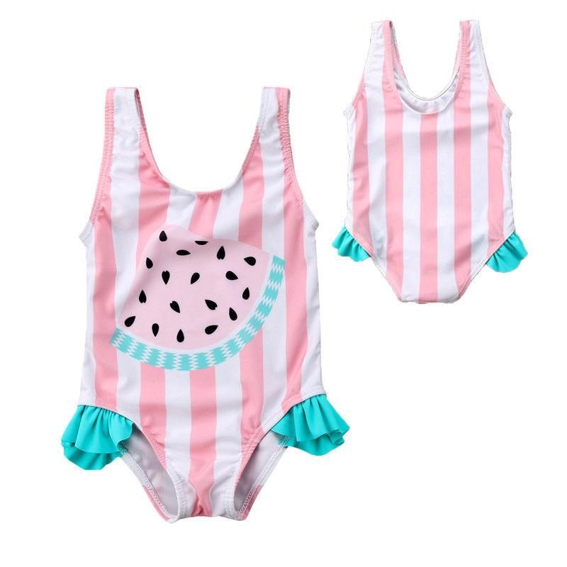 Watermelon Stripes Swim Suit - Okiedokee