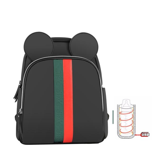 Mouseketeer Diaper Backpack w/ USB Cable - Okiedokee
