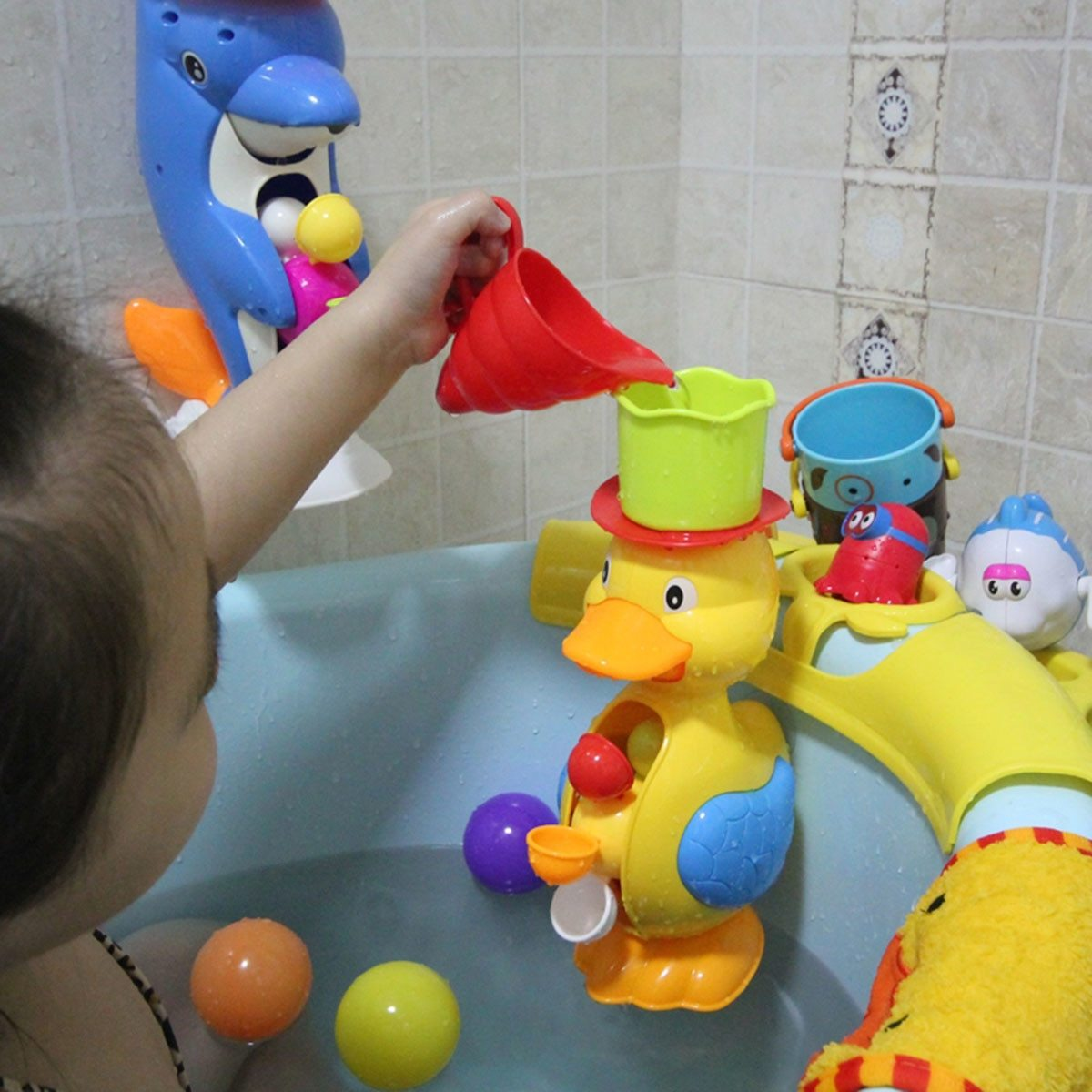 Water Wheel Duck Bath Toy - Okiedokee