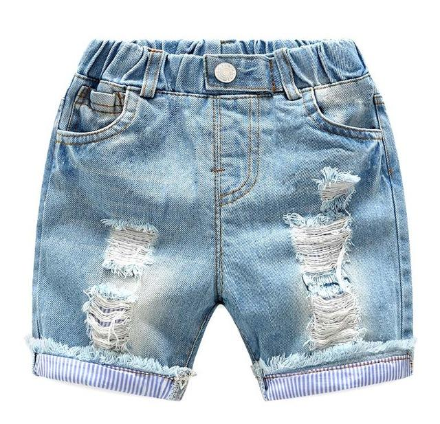 Luca Distressed Denim Short - Okiedokee