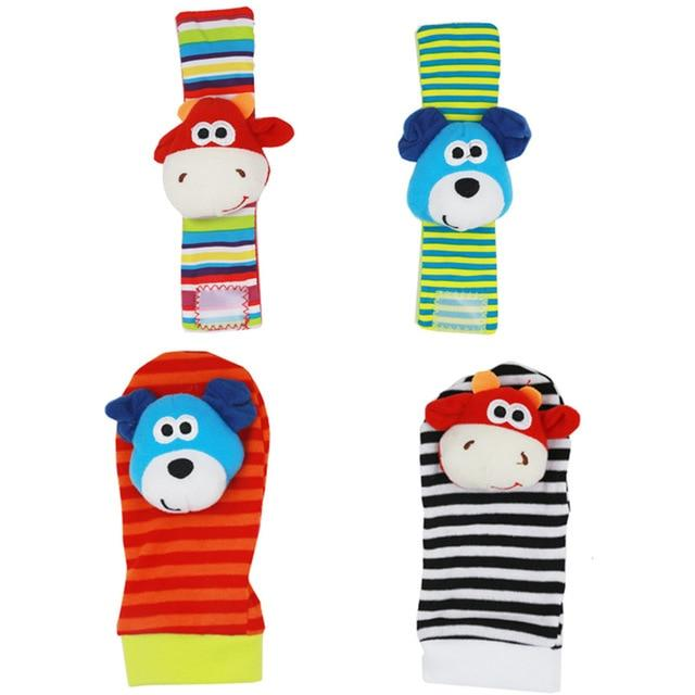BayBaby 4 Piece Socks & Wrist Rattles  -  Multiple Styles Available - Okiedokee