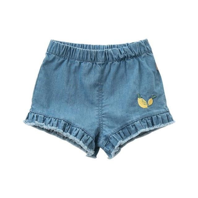 Amelia Denim Shorts - Okiedokee Children's Boutique Kids Fashion Baby Clothes Cool Children's Clothing