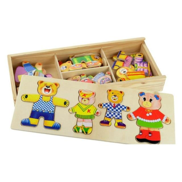 Bear Necessities Fashion Wooden Puzzle - Okiedokee Children's Boutique Kids Fashion Baby Clothes Cool Children's Clothing