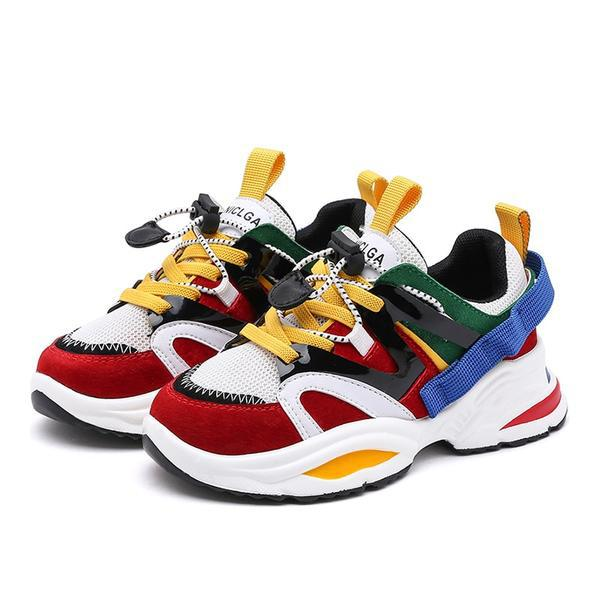 Color Block Toddler Sneakers - Okiedokee Children's Boutique Kids Fashion Baby Clothes Cool Children's Clothing