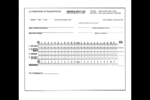 Driver's Daily Log Book - Trucking Industry