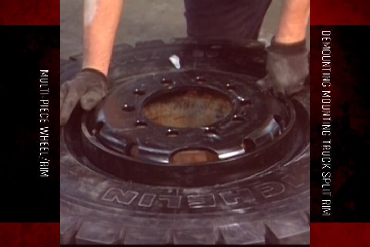 Multi-Piece Wheel/Rim Demounting Mounting - Truck Split Rim (Transportation)