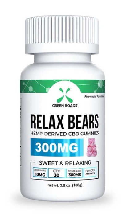 Green Roads Relax Bears 300 mg CBD Gummies