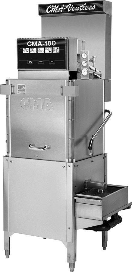 CMA Dishmachines CMA-180-VL 40 Rack/Hr, 3 Door Dishwasher, High Temperature Sanitizing, Single Rack, Ventless